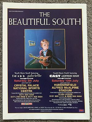 THE BEAUTIFUL SOUTH - LIVE 1997 full page magazine ad