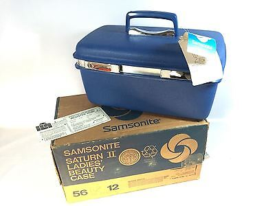 Samsonite Saturn II Ladies Beauty Case Vintage Makeup Train Luggage NEW WITH KEY
