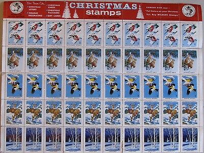 1958-59 NATIONAL WILDLIFE FEDERATION Full MNG sheet of 50 stamps