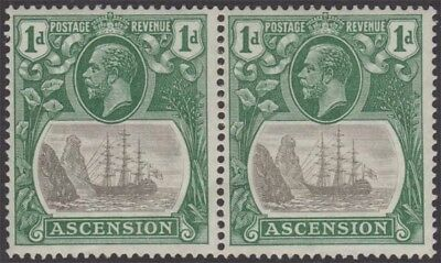 ASCENSION KGV 1933 Issue 1d SG11dc Cleft Rock Bright Blue Green Lightly Hinged