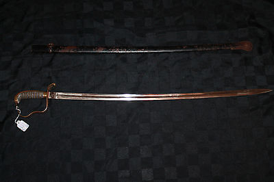 RARE Pre WWI WWII Ornate German Imperial Officer Sword Action Used Dagger Sword