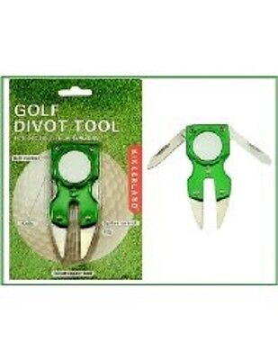 Golf Divot Multi Tool By Kikkerland In Green, Blue Or Pink - Free P/p