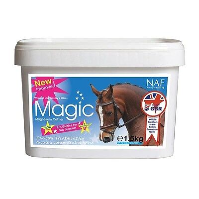 NAF 5 STAR MAGIC CALMER SUPPLEMENT HORSE MAGNESIUM  NERVOUS COMPETITION 1.5kg