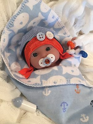 """FISH~5 pc Baby BoY DOLL CLOTHES SeT~PaCifieR~ToY~FOR 5-6"""" Mini Reborns~Berenguer"""