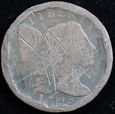 1795 Flowing Hair Large One Cent Penny United States Antique One Cent Coin!