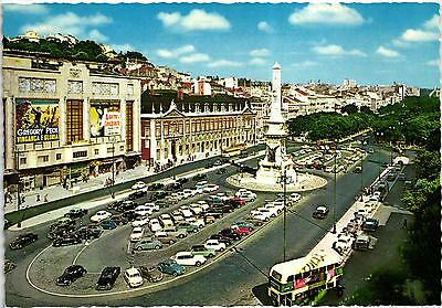 Lisbon Old Cine Gregory Peck In The Movie Only The Valiant Cars Old Postcard