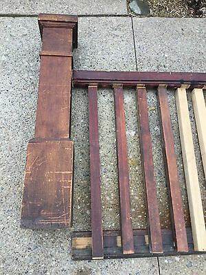 VTG ANTIQUE MAPLE Mission Arts & Crafts STAIR STAIRCASE RAILING Banister Post