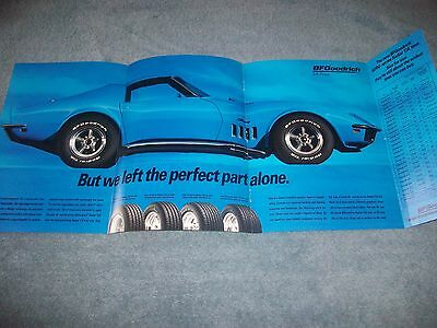 "1969 Corvette Coupe Vintage BFGoodrich Fold-Out Ad ""We Amped Up the Handling"""