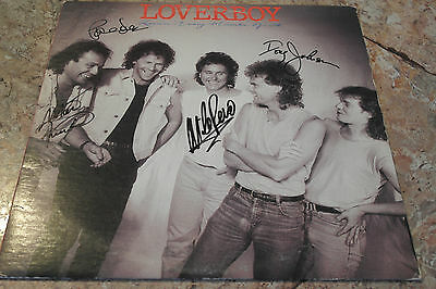Loverboy lp signed (4 surviving members)