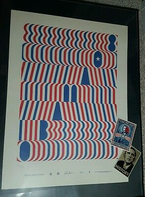 Obama 08 Campaign Poster Print Official Numbered by Lance Wyman + FREE Fairey