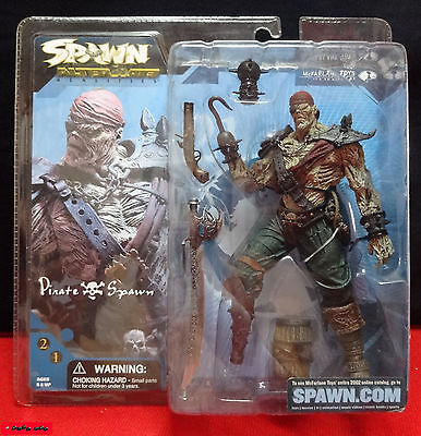 "SPAWN Alternate Realities -  PIRATE SPAWN - 7"" (ca.18cm) - Mc Farlane OVP - RARE"