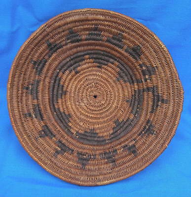 Antique Vintage Navajo Indian Wedding Basket 16 Point Star Native American 12""
