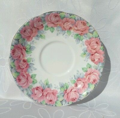 Vintage Royal Standard Rose of Sharon Pink Roses Saucer spare Replacement