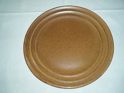 "MONMOUTH POTTERY USA - Large 12-5/8"" Dinner Platter - Mojave Brown Speckle"