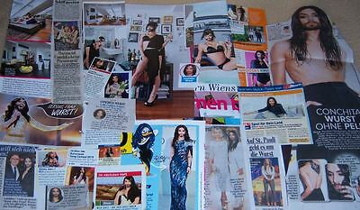 Conchita Wurst 30 pc German Clippings Full Pages