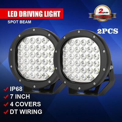 1280W 7 inch pair led cree driving lights SPOT OFFROAD 4WD ATV UTV TRUCK PK 675W