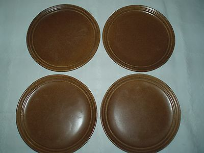 "MONMOUTH POTTERY USA - 10"" Dinner Plate, Lot of (4) - Mojave Brown Speckle"
