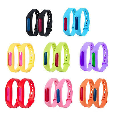 10pcs Anti Mosquito Insect Bugs Repellent Wrist Band Bracelet Sticker Outdoor