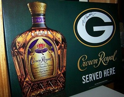 Green Bay Packers Crown Royal Mark Tauscher #65 Autographed Canvas Print