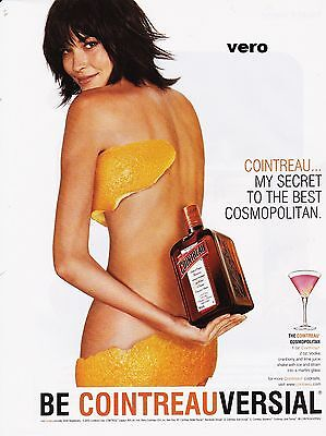 COINTREAU 2005 liqueur alcohol magazine ad art clipping orange peel bra + panty