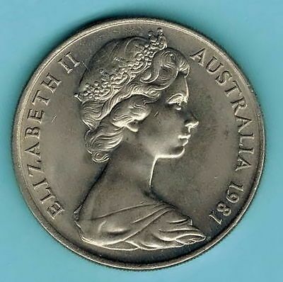 AUSTRALIA coin 1981  20 CENTS Elizabeth II - Platypus VERY GOOD COIN