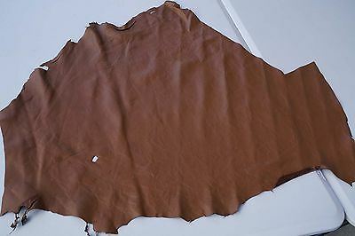 Brown lambskin piece/remnant 70 x 70 cm Soft and supple
