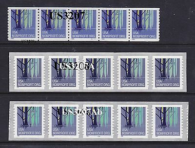 PNC5 5c Wetlands  US3207 US3207A, US3207Ab, Lot (3)   MNH  F-VF