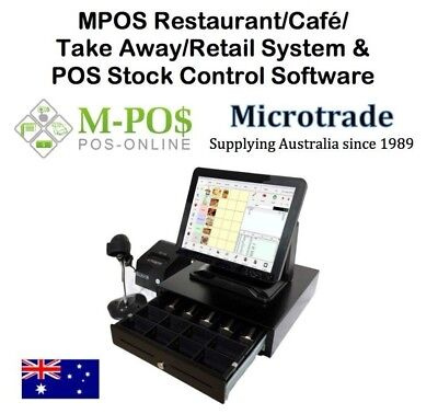"""15"""" POS Terminal System for Restaurant-Cafe/Take Away-Retail Software complete"""