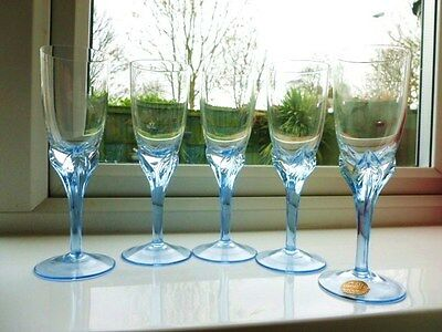 Set of Four (Plus one more!) of  Czech Bohemia Crystal Glasses
