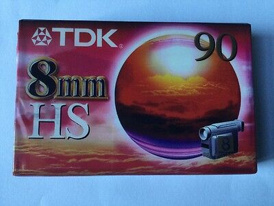 TDK 8mm HS90 Video Cassette Tape - Sealed