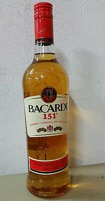 Bacardi 151 *flammable Rum*Discontinued*Sealed*Rare