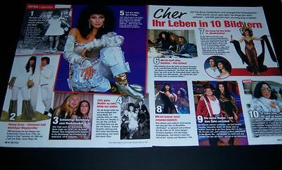 Cher 22 pc German Clippings Collection Full Pages