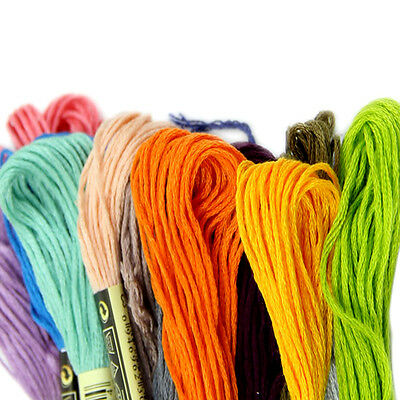 50X Mix Colors Cross Stitch Cotton Sewing Skeins Embroidery Thread Floss Kit