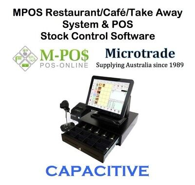 "15"" CAPACITIVE POS Terminal, Restaurant, Cafe/Take Away Point of Sale Software"