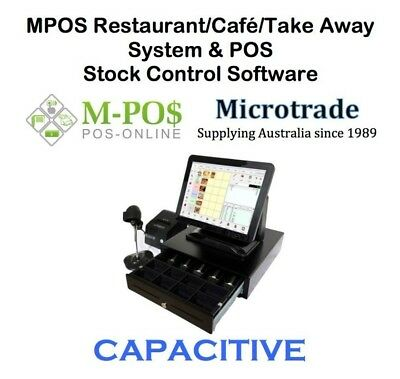 "15"" POS CAPACITIVE Terminal, Restaurant, Cafe/Take Away inc. Software & Wifi."