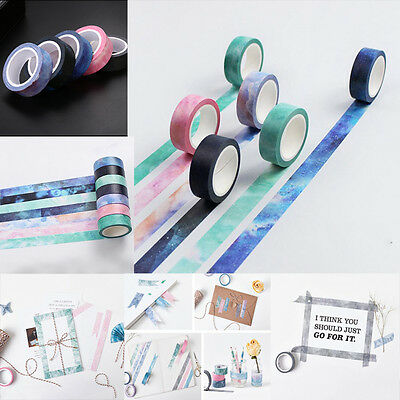 Washi Sticky Paper Tape DIY Masking Scrapbooking Masking Craft Tape Decor New