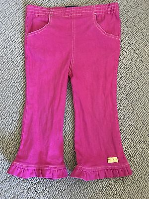 MINI MOLLY Size 2 Hot Pink Pants w Frilly Hems