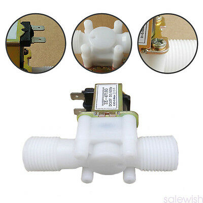 Electric Solenoid Valve Magnetic DC N/C Water Air Inlet Flow Switch 12V 2017