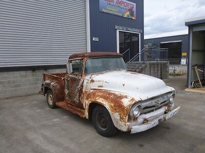 1956 Ford F100 Pickup F1 classic shop truck hotrod patina chevy builder cheap