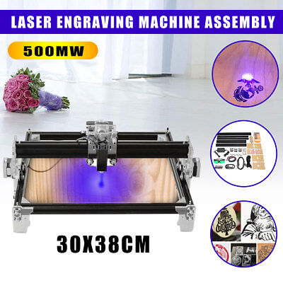 A3 30x38cm DIY Desktop Mini Laser Engraver Cutter Engraving Machine Assemble Kit