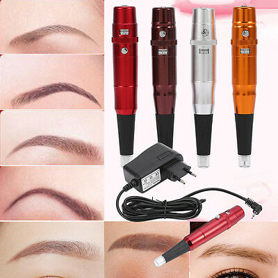 Microblading Maquillage Permanent Tattoo Pen Sourcils Lèvres Machine Kit EU Plug