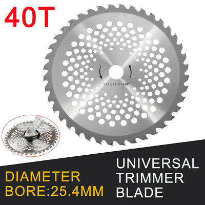 255MM 40 Tooth Carbide Blade For Brush Cutter Strimmer 25.4mm Bore Diameter 10''