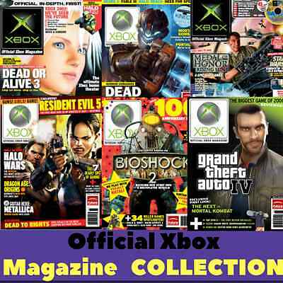 Official Xbox Magazine Collection 117 - Vintage Retro Gaming Magazines on 1 DVD
