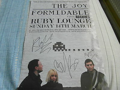 Signed The Joy Formidable The Ruby Lounge Gig Poster