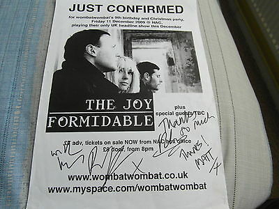 Signed The Joy Formidable Norwich Arts Centre 2009 Gig Poster