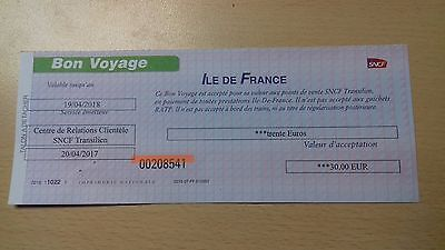 Paris Metro Voucher (Value 30 Euros) Valid Until 19.04.2018