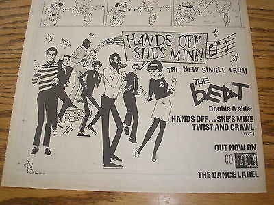 the beat, hands off she's mine, 1980 half page press advert