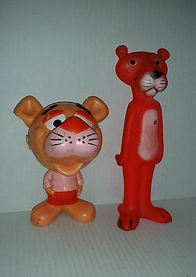 2 old Pink Panther toys incl a 1976 Mattel pull-string Chatter-Chum