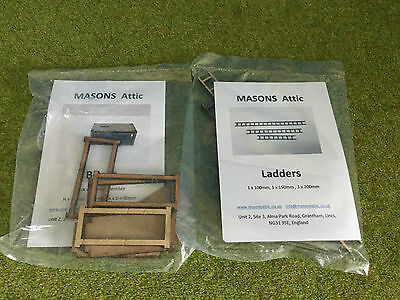 MDFSK.,  Pack of 3 Ladders and 2 Benches 1:32 Special Offer