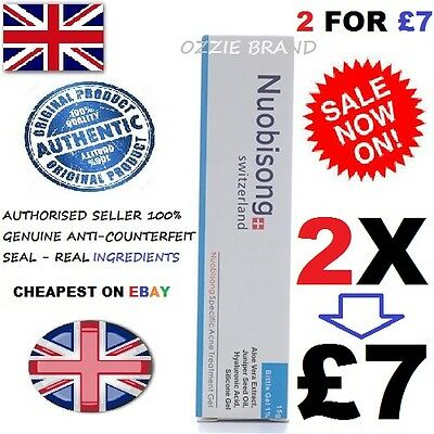 2X Nuobisong-Authentic Acne Scar Removal Gel Blemishes Stretch Marks Defect Uk